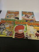 Lot Of 5 Vintage The Beano Uk Comic Books - Complete Large Book Nice Collection