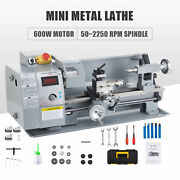 Mini Metal Lathe W 600w Brushed Motor 4 3-jaw Chuck And More 8x14 Inch 2500rpm