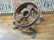 Vintage Industrial Steampunk Cast Iron Springs Sprocket Lamp Base Project