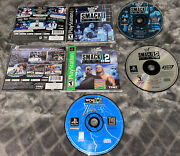 Wwf Lot Smack Down 1 And 2 Wcw/nwo Thunder Ps1 Playstation 1 Ps1 Tested Wwe