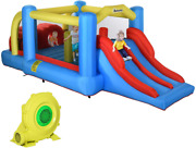 Outsunny Kids Inflatable Bounce House 3-in-1 Jumping Castle With Slide Climbing