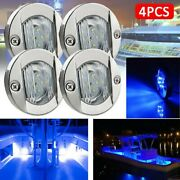 2835 Led Stern Lights Round 3inch Ships 4pcs 6-smd Blue Trailers Cabin