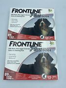 6 Doses - Frontline Plus For Extra Large Dogs 89-132 Lbs - Genuine Epa Approved