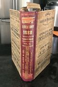 Leadville Colorado City Directory 9th Annual Ballenger And Richards Saloons 1888