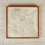 Topographical Survey Ceramic Wall Sculpture