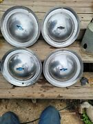 Set Of 4. 15 Inch 1953 Chevrolet Hubcap Wheel Covers