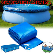Above Ground Swimming Pool Covers For Winter Round Safety Pe Blue 6/8/12/15ft