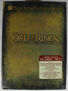 Dvd Lord Of The Rings Motion Picture Trilogy 12-dvds Extended Factory Sealed