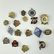 Vintage Job Lot Girl Guide And Other Brass And Solid Silver Badges Wi Baden Powell