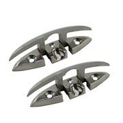 2pcs Stainless Steel 316 Flush Boat Cleats 6 Inch Marine Yacht Sailboat