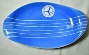 Vintage Ashtray Blue W/white Stripes Polish Airlines Lot Advertising Collectible
