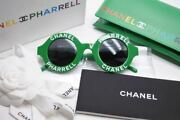Pharrell Farrell Sunglasses Capsule Collection 19ss Round Green _67633
