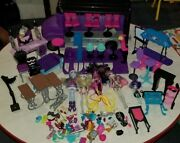 Huge Monster High School Bus/beauty Salon Doll And Furniture Lot
