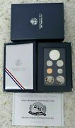 1991 Prestige Proof Set - 7 Coins Inc. Mount Rushmore Silver Dollar And Half