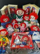 Mixed Lot Variety Vintage Raggedy Ann And Andy Dolls 70-90and039s Collectibles