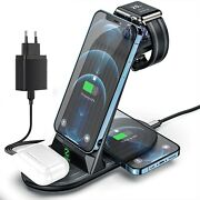 Wireless Charger 4 In 1 20w Fast Charging Station For Apple Watch Iphone Airpod