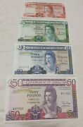 Gibraltar 1,5, 10 And 50 Pounds 1986-1988 Unc Full Set Perfect Condition