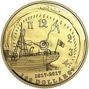 2017 100 Dollar 100th Anniversary Of The Halifax Explosion 14 Kt. Gold Coin