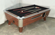 7and039 Valley Commercial Coin-op Pool Table Model Zd-5 New Black Cloth