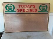 Vintage Quaker State Motor Oil Gas Todays Special Advertising Board Sign