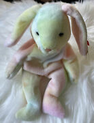 Ty Beanie Baby Hippie The Rabbit/easter Bunny With Errors 1998-1999 P.e Pellets