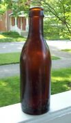 Early 1900andrsquos Rare Amber Coca Cola Bottle Nashville Script Style On Heal. Root