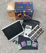 Amazing Vintage 1967 Lite-brite Toy By Hasbro With Sheets Pegs And Original Box