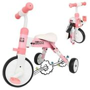 Baby Kids Tricycle Bike Trike Play Sports Activity Ride On Steel Frame Pink Us