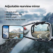 Car Clip-on Towing Mirror Trailer Rv Safe Hauling Extension Blind Spot Universal