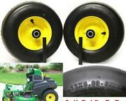 2 Lawnmower Tires 4 Ply Replacement For John Deere Tca13769 Wheel 13x5.00-6 Air