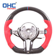 Sport Carbon Fiber Perforate Leather Steering Wheel For Bmw M2 M3 M4 F80 F82 15+