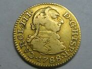 1788 Madrid 1/2 Escudo Charles Iii Spanish Gold Spain Coin Colonial