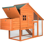 Pet House Dog Wood Chicken Shelter Outdoor Wooden Coop Kennel Shed Cabin Usa