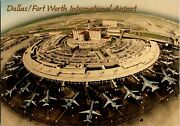 Dallas Fort Worth Airport 1990s Postcards Planes Terminals Aerial Airport View