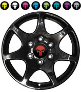 Punisher Wheel Center Cap Many Sizes Overlay Decals Choose Your Colors 6 Per Set