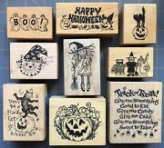 Rare Psx Comotion Rubber Stamps Halloween Cats Ghosts Kids Sayings Etc You Pick