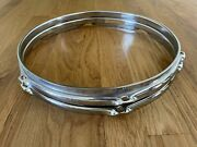 Pair Of 12 Inch 6 Lug Snare Top And Bottom Drum Hoops Rims World Max Nos