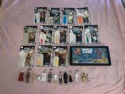 Rare Vintage Kenner 1977 Star Wars 1st 12 Action Figures With Cardbacks/weapons