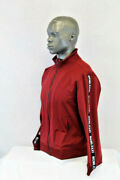 Guess L/s Keith Mcm Tape Jacket Pinot Noir Burgundy/multicolor A586