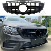 Front Racing Facelift Grill For Mercedes-benz W213 E-class 2016-2019 Amg Blk