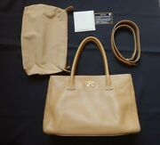 Bag The Real Thing Razor Tote Shoulder Beige Secondhand Yo _70321