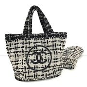 Pile Tote Bag Beach Towels With Pouch Black _69756