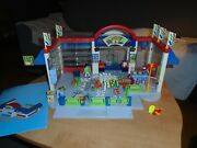 Playmobil 3200 Supermarket Grocery Store Complet + Rare + Extra + Box City Life
