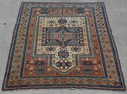 Antique Caucasian Hand Knotted Wool Veg.dyes Oriental Rug Hand-washed 3 X 5