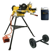 Steel Dragon Tools® 300 Pipe Threader Threading Machine With Oil And Transporter