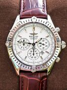 Breitling Shadow Flyback 38 Serviced White Box Chronograph Chrono Cockpit A35312