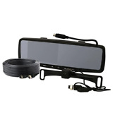 Lcd Color Rearview Mirror Monitor License Plate Camera And Backup Camera Kit