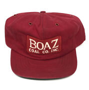 Vintage Boaz Coal Co Patch Snapback Trucker Hat Cap Made In Usa Miner Mining Z