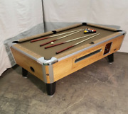 7and039 Valley Commercial Coin-op Pool Table Model Zd-6 New Taupe Cloth