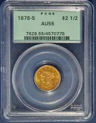 1878-s Coronet Head 1/4 Eagle Gold 2.5 Dollars Pcgs Certified Old Green Slab
